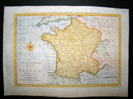 Bowen C1790 Antique Hand Coloured Map. France